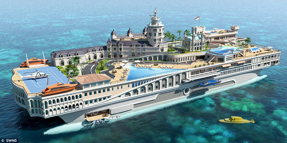 An Amazing Ship Replicating The Famous Mediterranean Port Of Monaco Down To The Grand Prix Go-kart Circuit