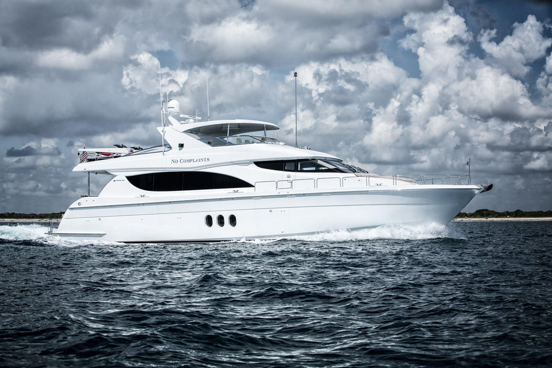 Used hatteras yachts for sale from 71 feet and above for Hatteras motor yacht for sale