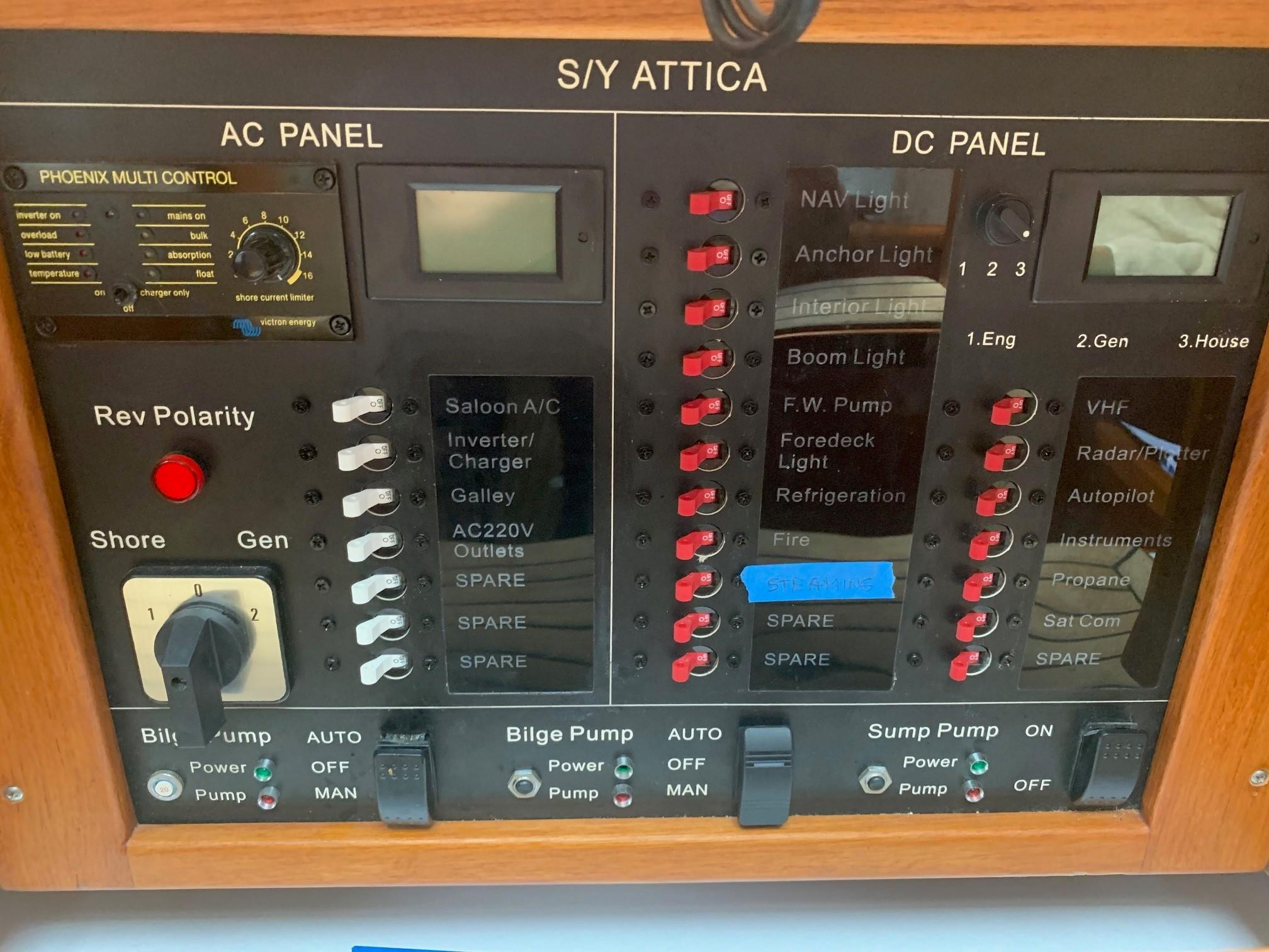 Cheoy Lee Offshore 36 - Control Panel