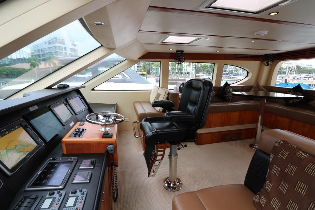 control helm at Enclosd Flybridge