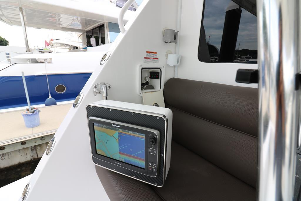 control console with CAT Three60 on AFT port