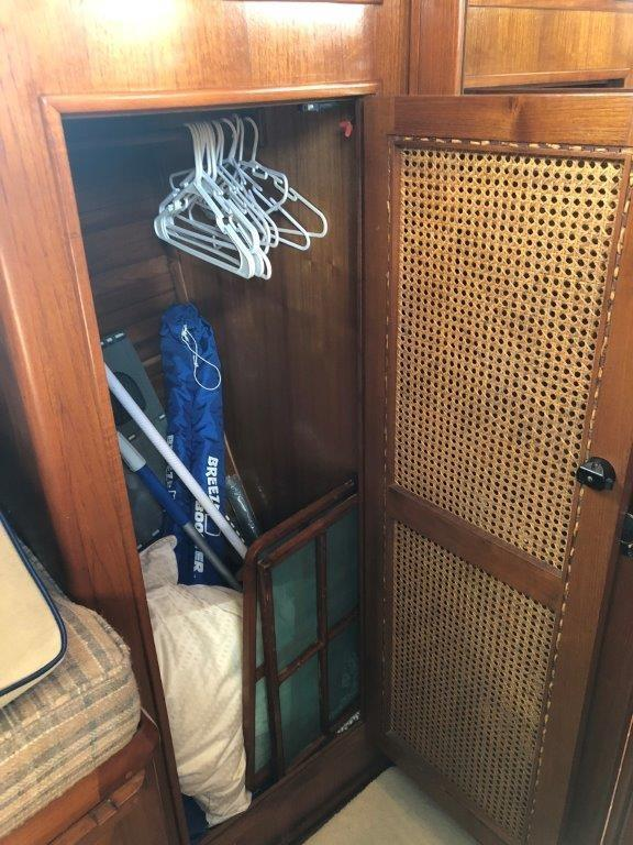 Large hanging locker in the forward stateroom