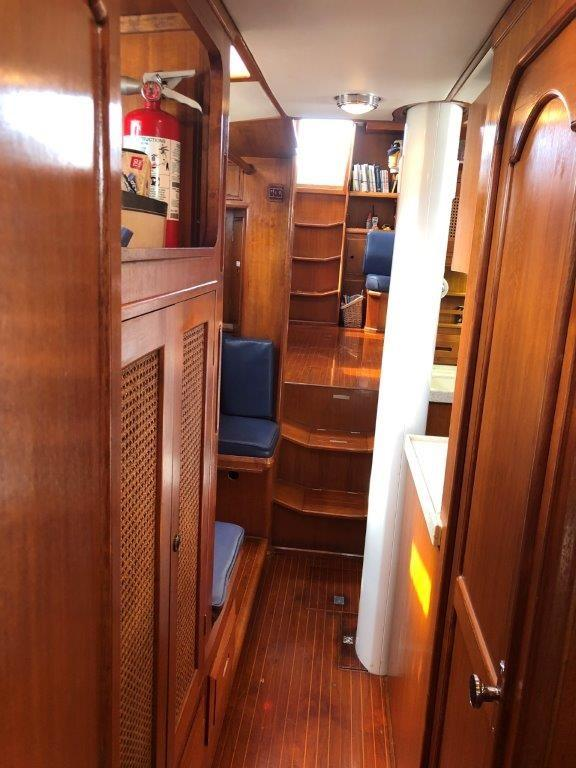 Looking from the forward stateroom aft