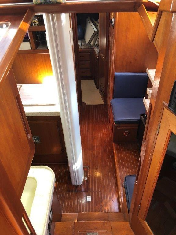 View of the galley from the pilothouse