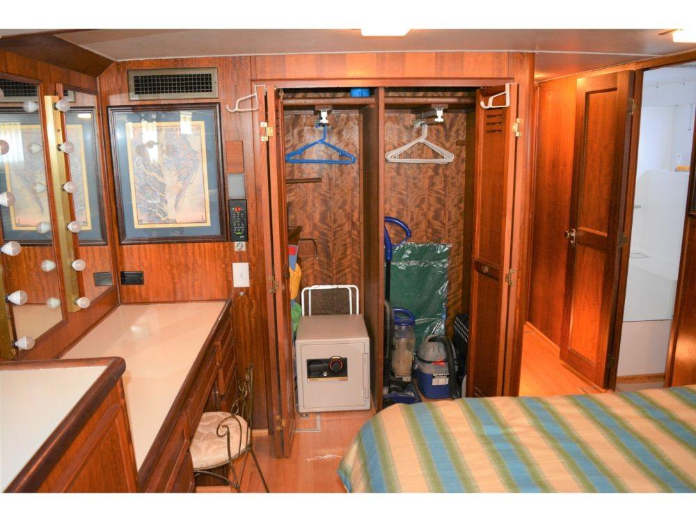 Hatteras 58 Motor Yacht - Master Stateroom Hanging Lockers 2