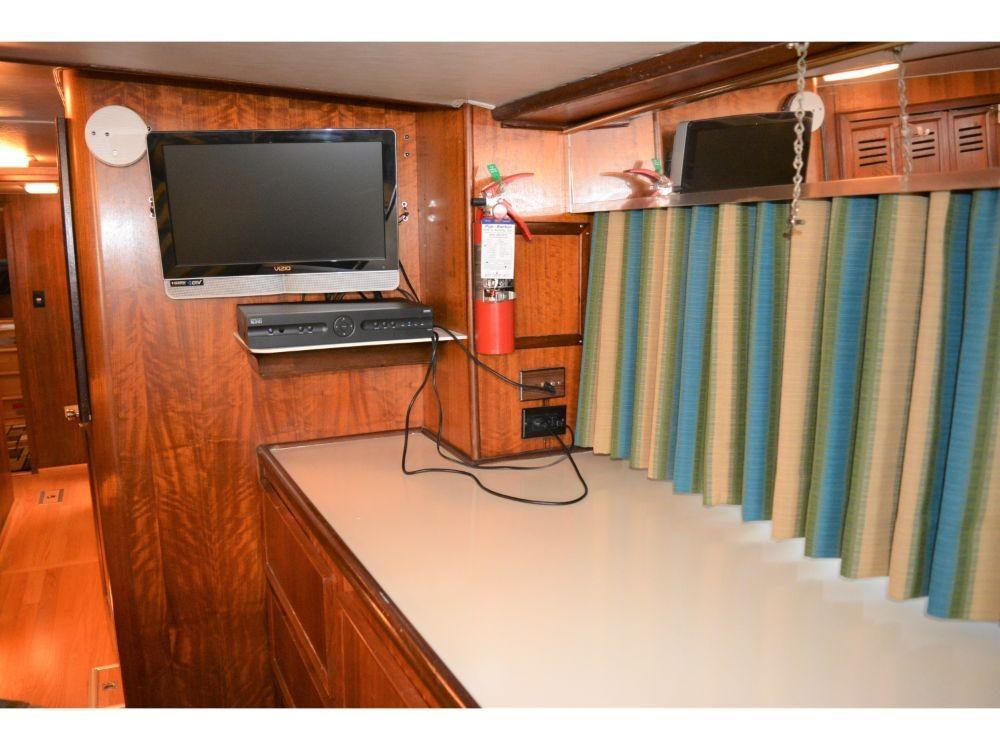 Hatteras 58 Motor Yacht - Master Stateroom TV
