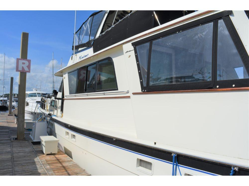 Hatteras Motor Yacht - Port Side Forward