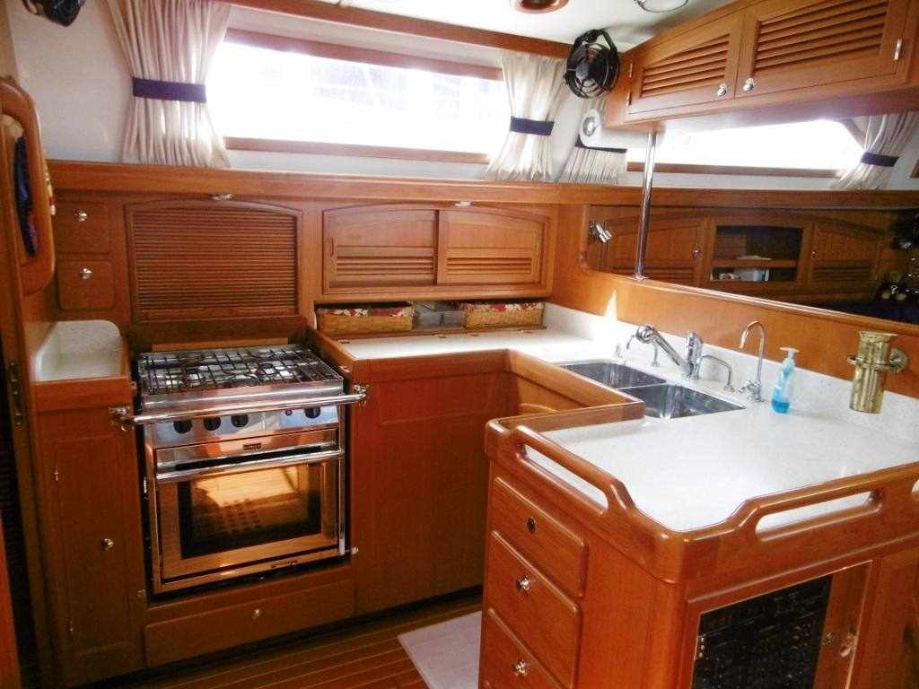 Wonderful U shaped galley with good storage and counter space