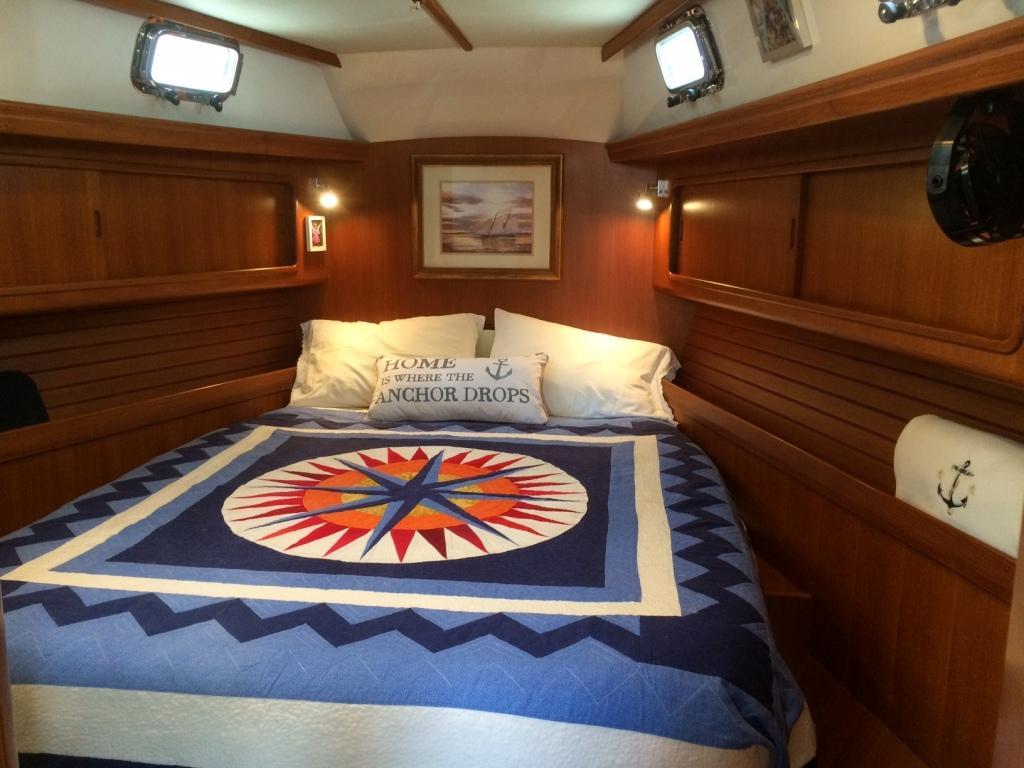 Master stateroom forward