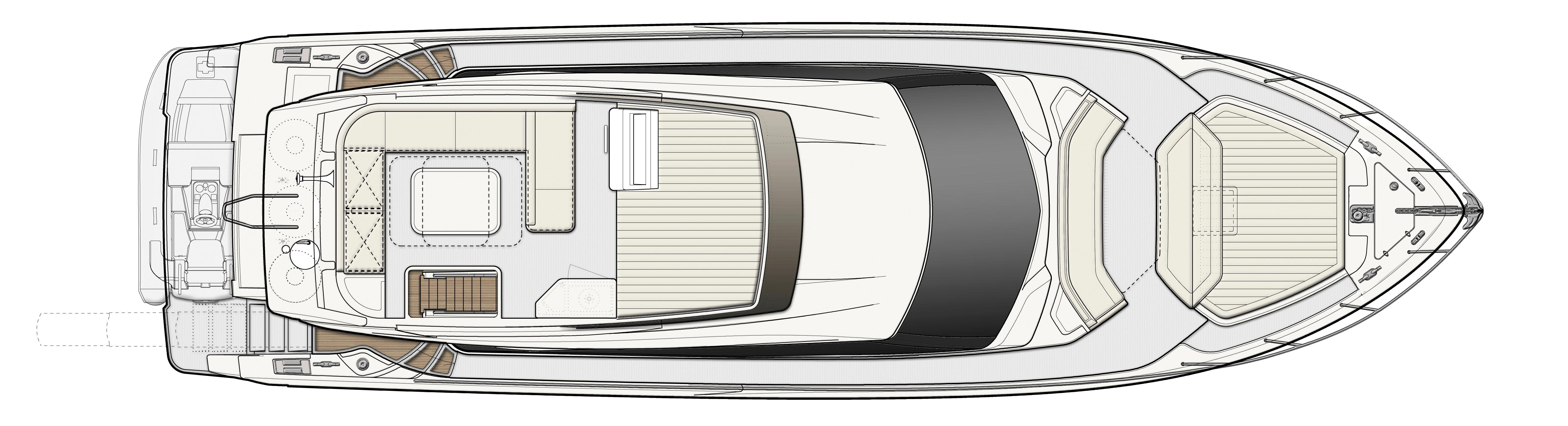 Ferretti 550 Flybridge Layout plan