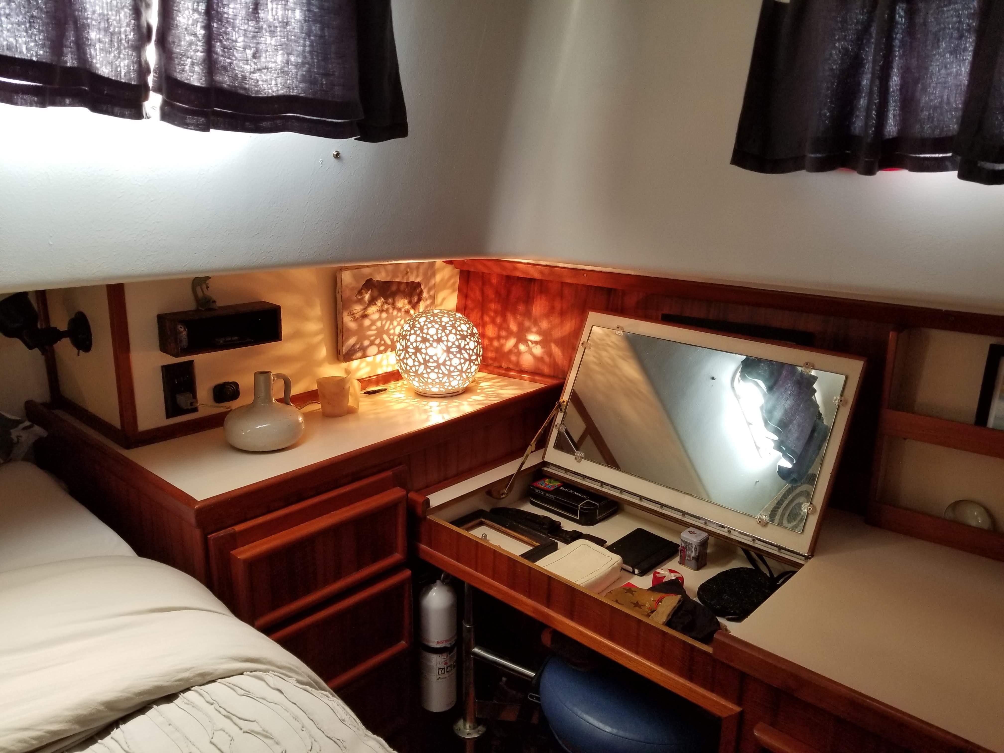 Prairie Boat Works 36 Dual Cabin - Make-up vanity to port