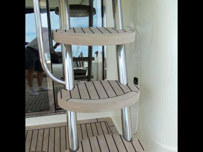 Faux Teak Ladder Steps