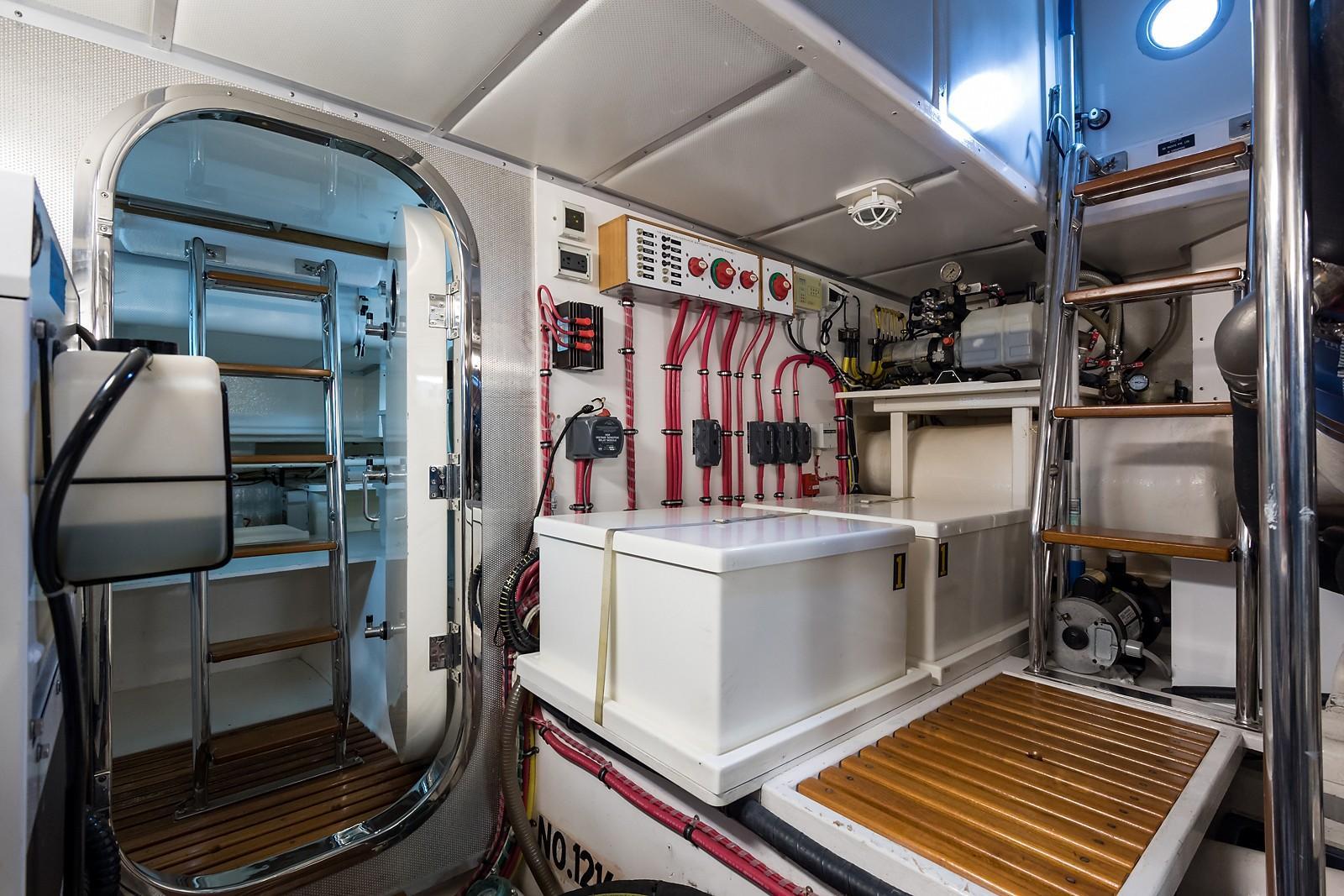 59 Grand Banks Engine Room