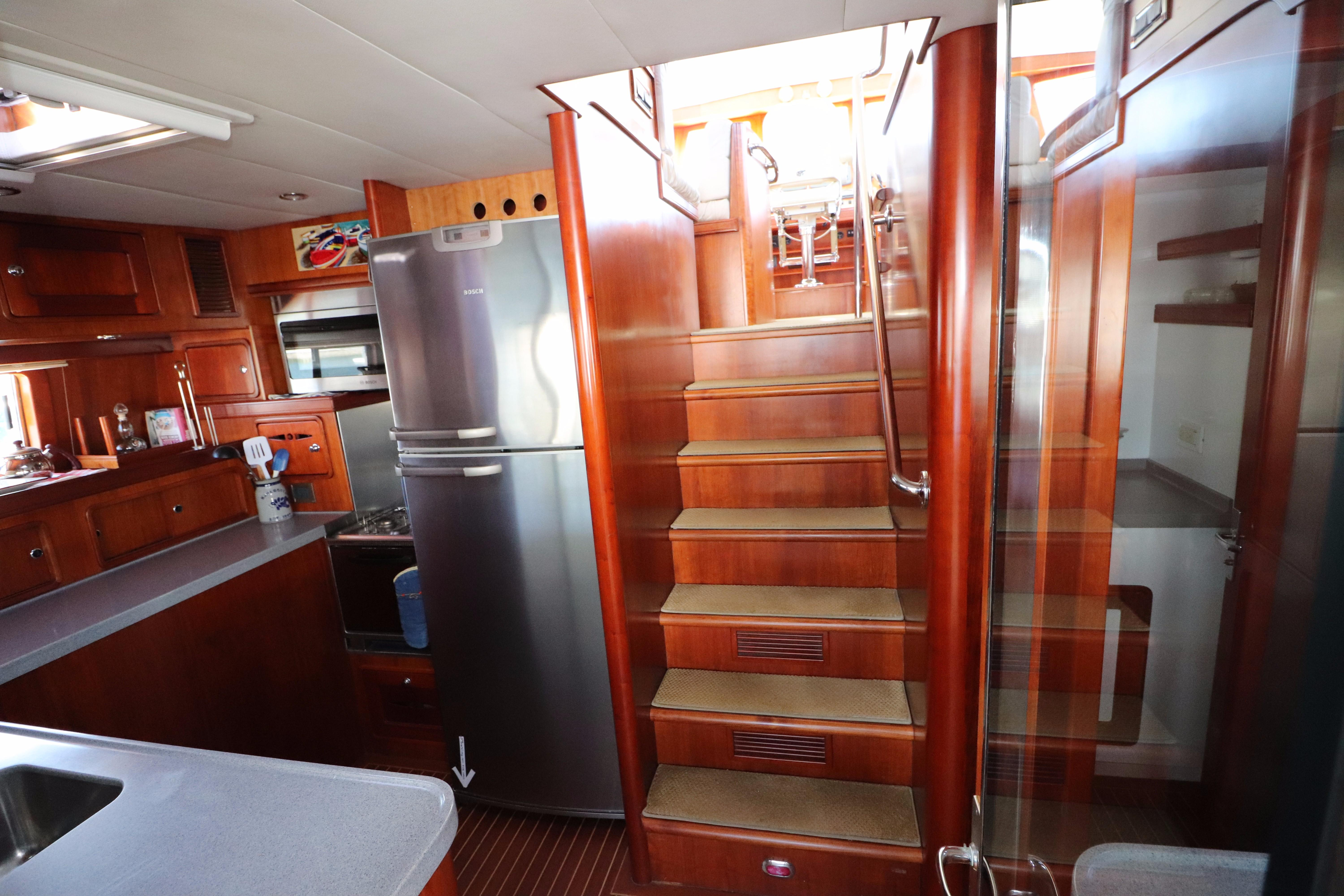 Stairs to Helm Deck