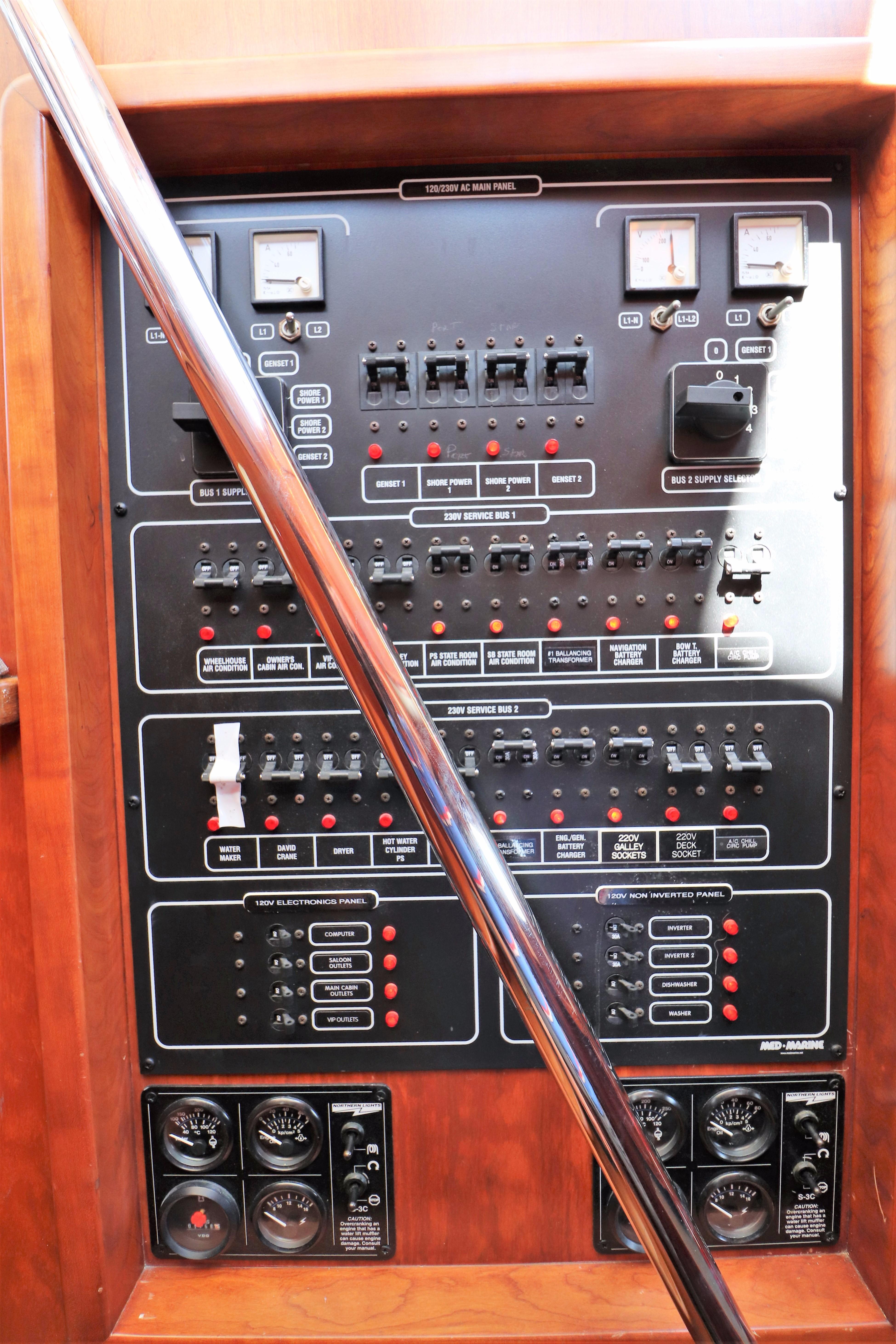 220V-120V AC Panel