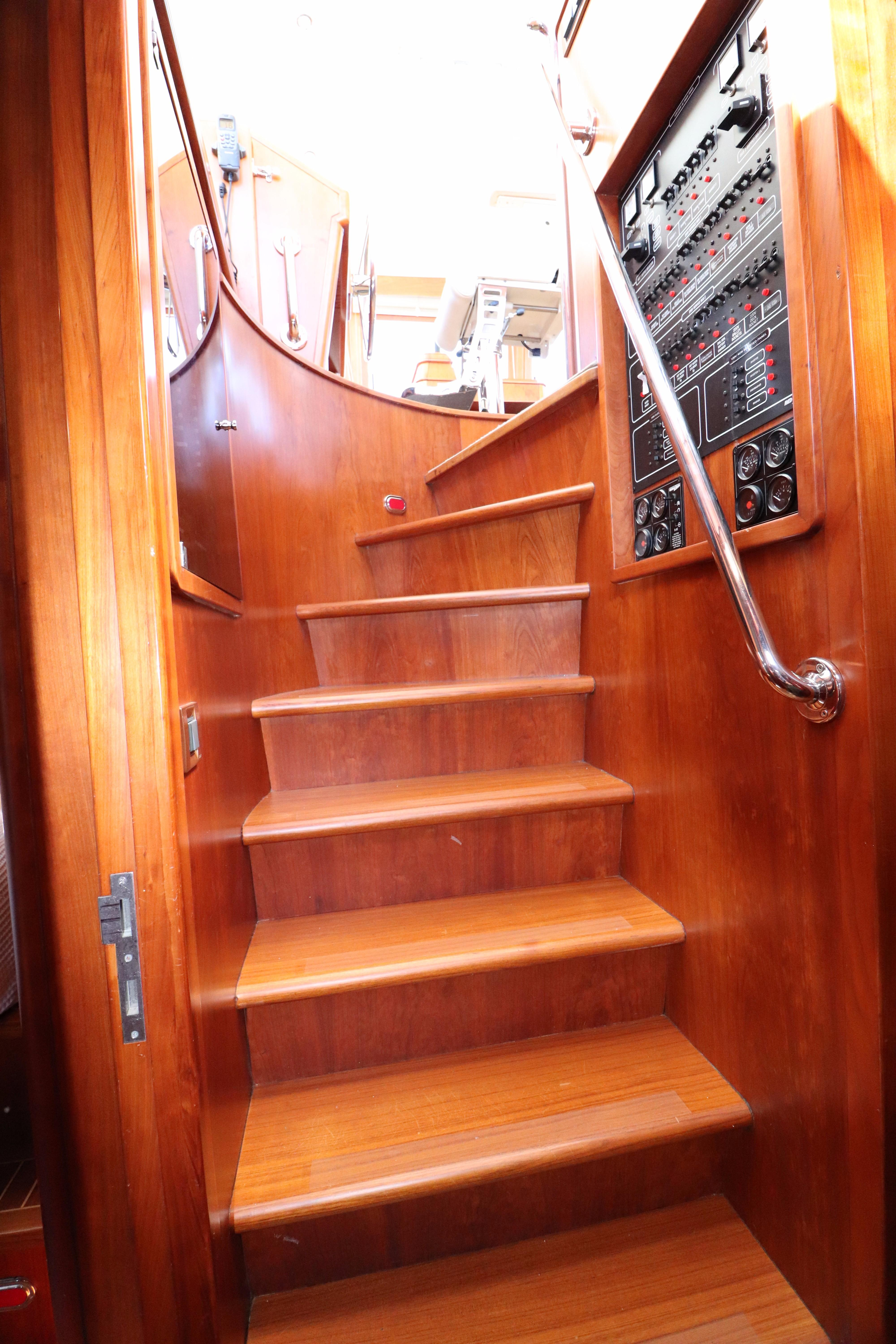 Port-Side Stairs to the Helm Deck