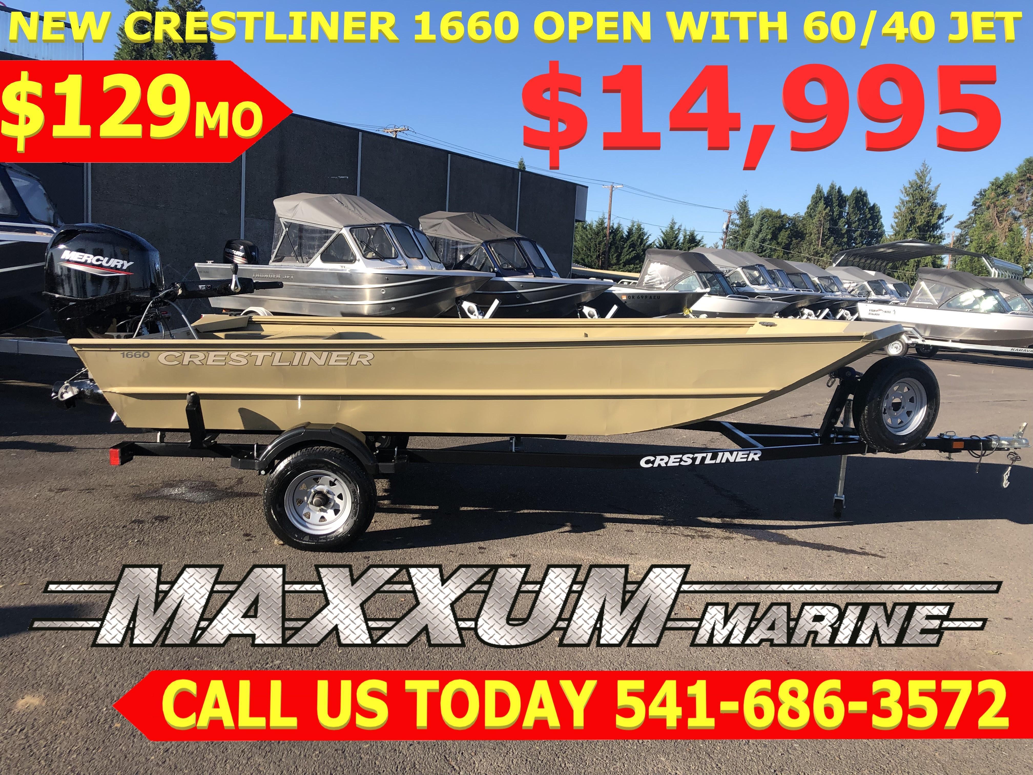 2018 Crestliner 1660 Eugene, Oregon - Maxxum Marine