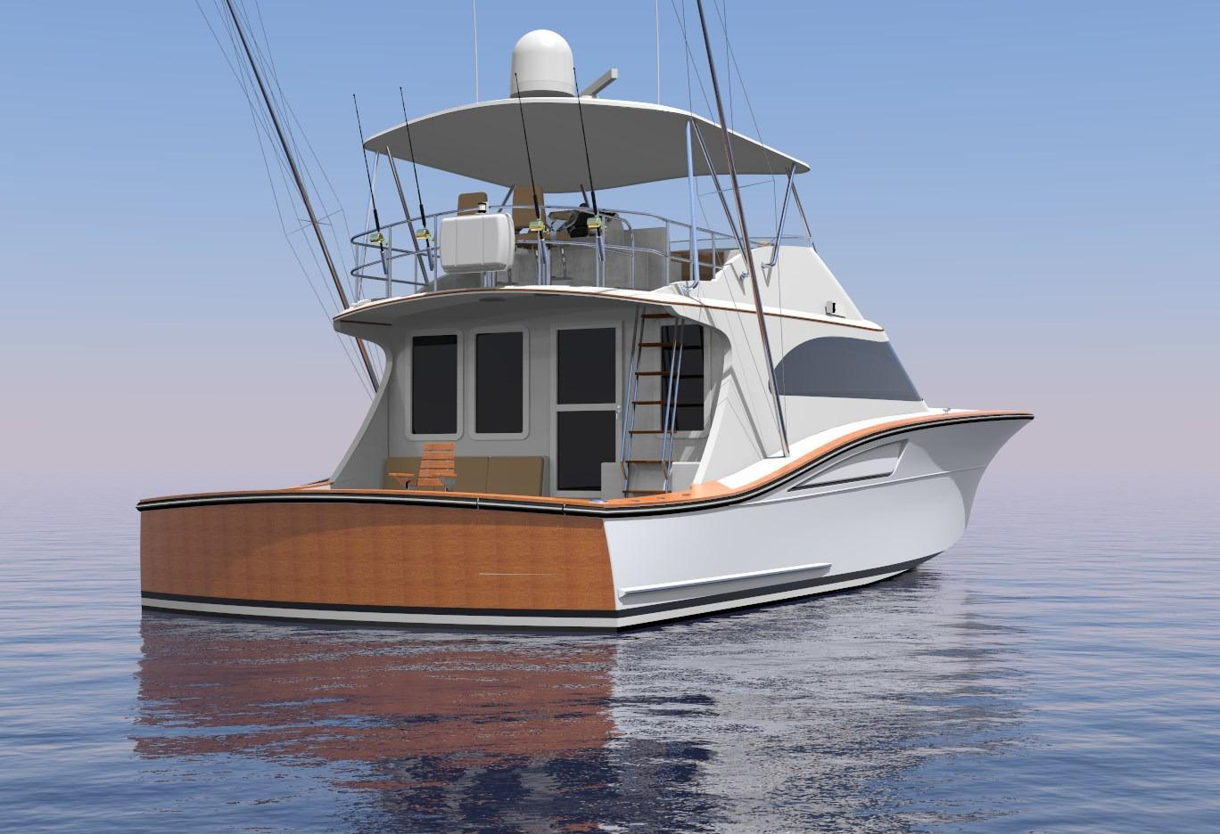 Brooklin Boat Yard 65 Perspective Stern