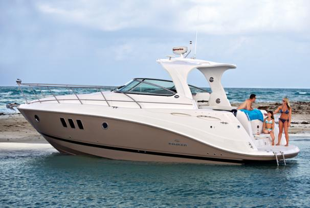 2014 Rinker boat for sale, model of the boat is 360 Express Cruiser & Image # 2 of 12