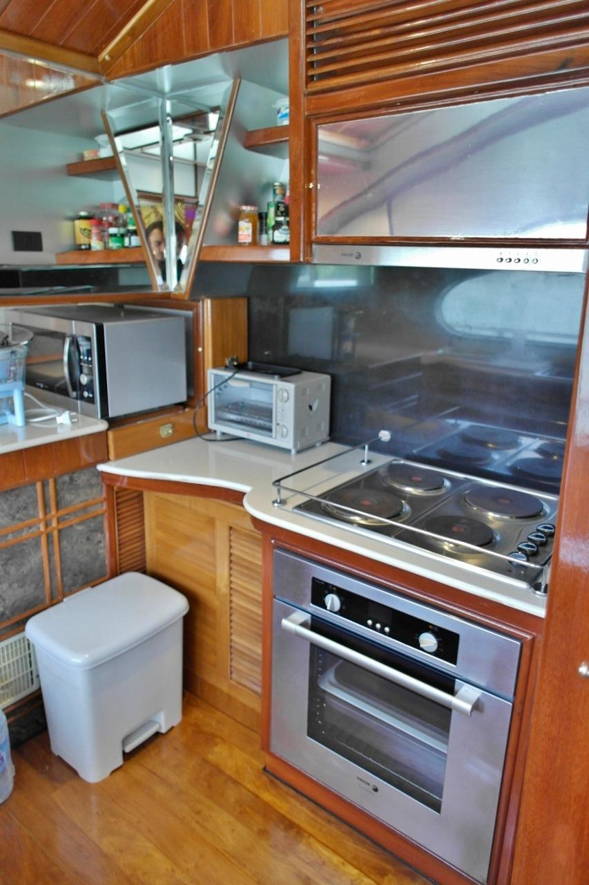 Galley with full oven