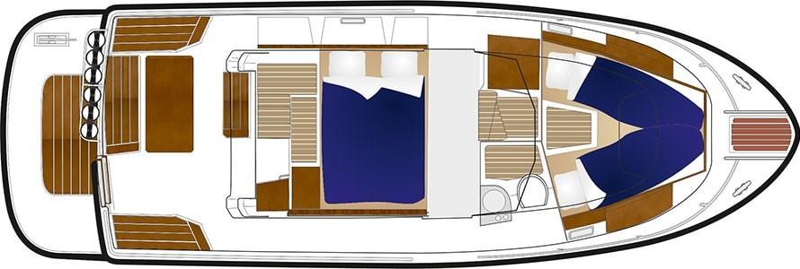 Sargo 31 Aft Door - accommodation