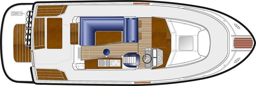 Sargo 31 Aft Door - wheelhouse plan
