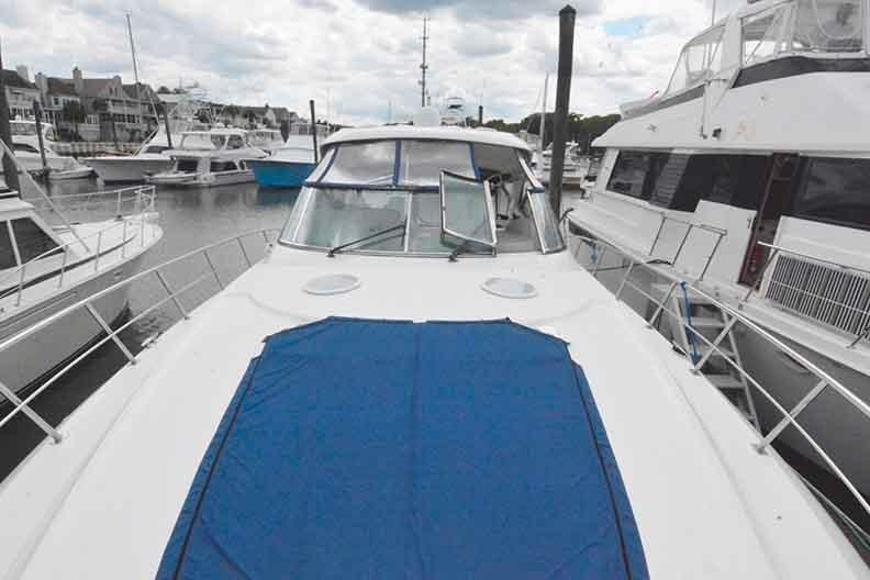Cruisers Yachts 500 Express - View from Bow looking aft