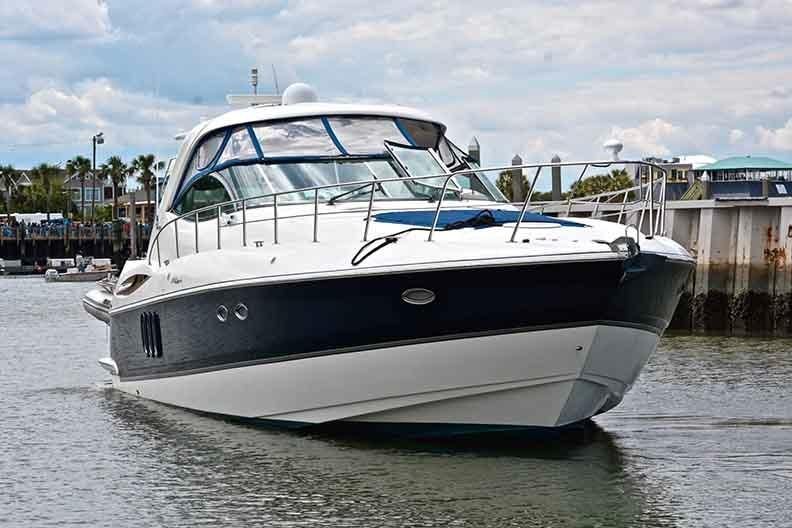 Cruisers Yachts 500 Express - Bow Profile Shot to Starboard