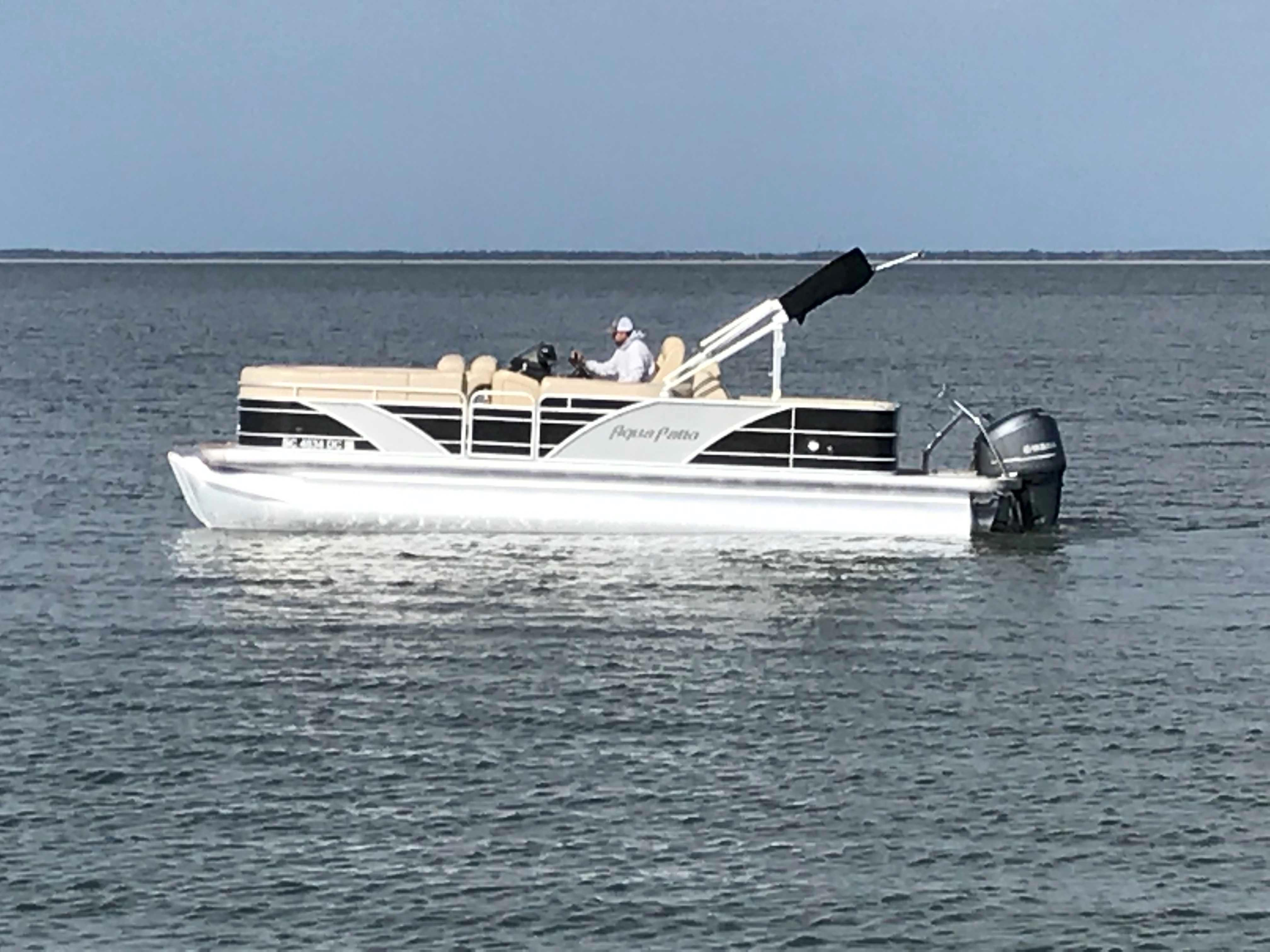 Godfrey Aqua Patio - Port side afloat