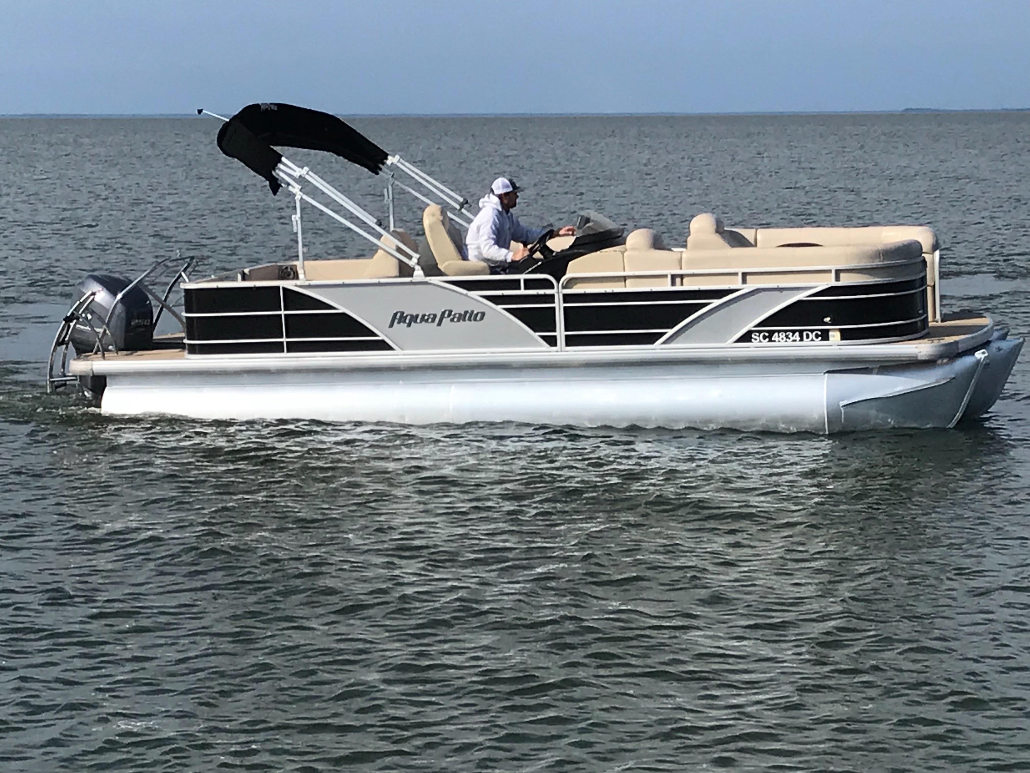 Godfrey Aqua Patio - Starboard side