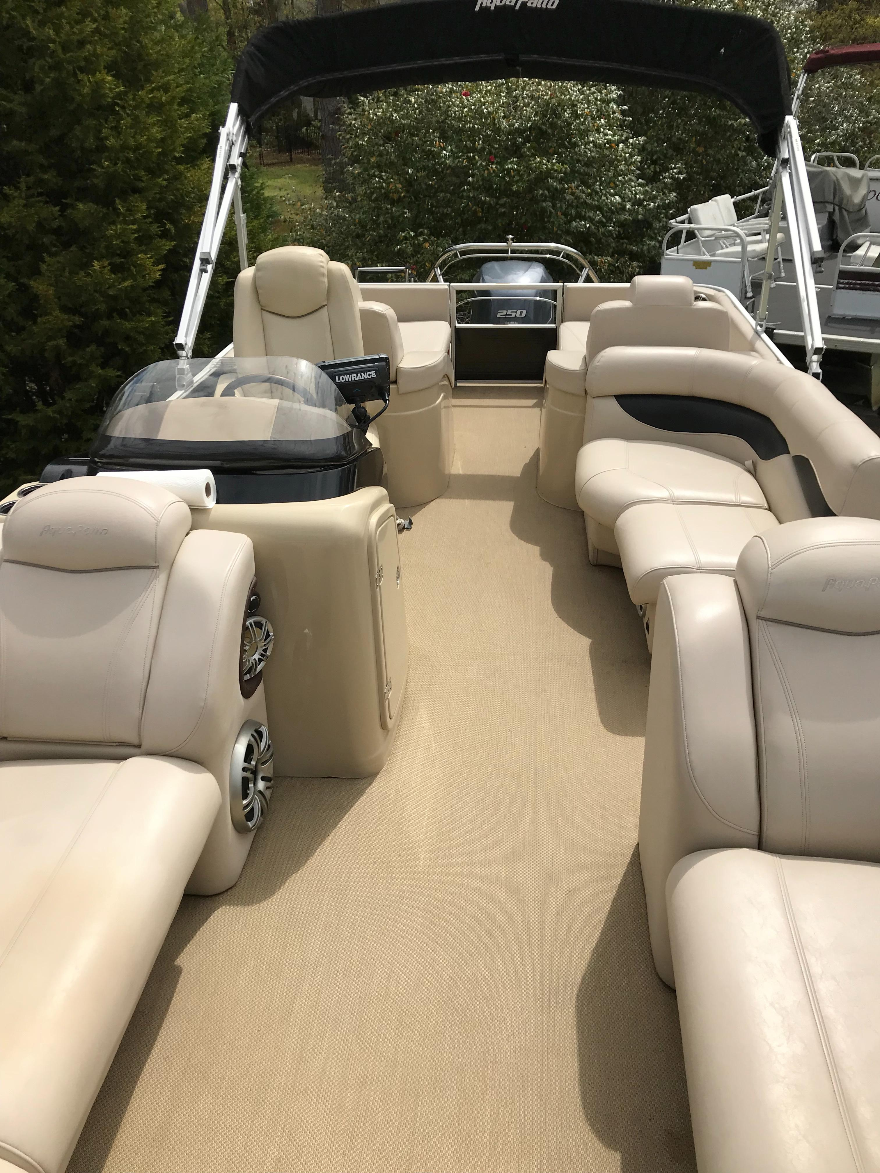 Godfrey Aqua Patio - View aft from foredeck