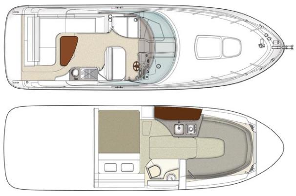 Sea Ray 280 Sundancer - Manufacturer Provided Image / Layout
