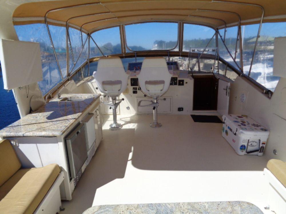 Hatteras 61 Motor Yacht - Upper Helm