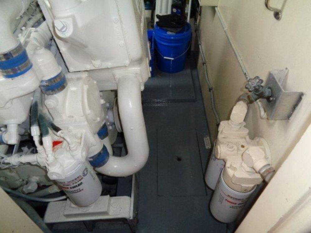 Hatteras 61 Motor Yacht - Port Engine Room forward floor