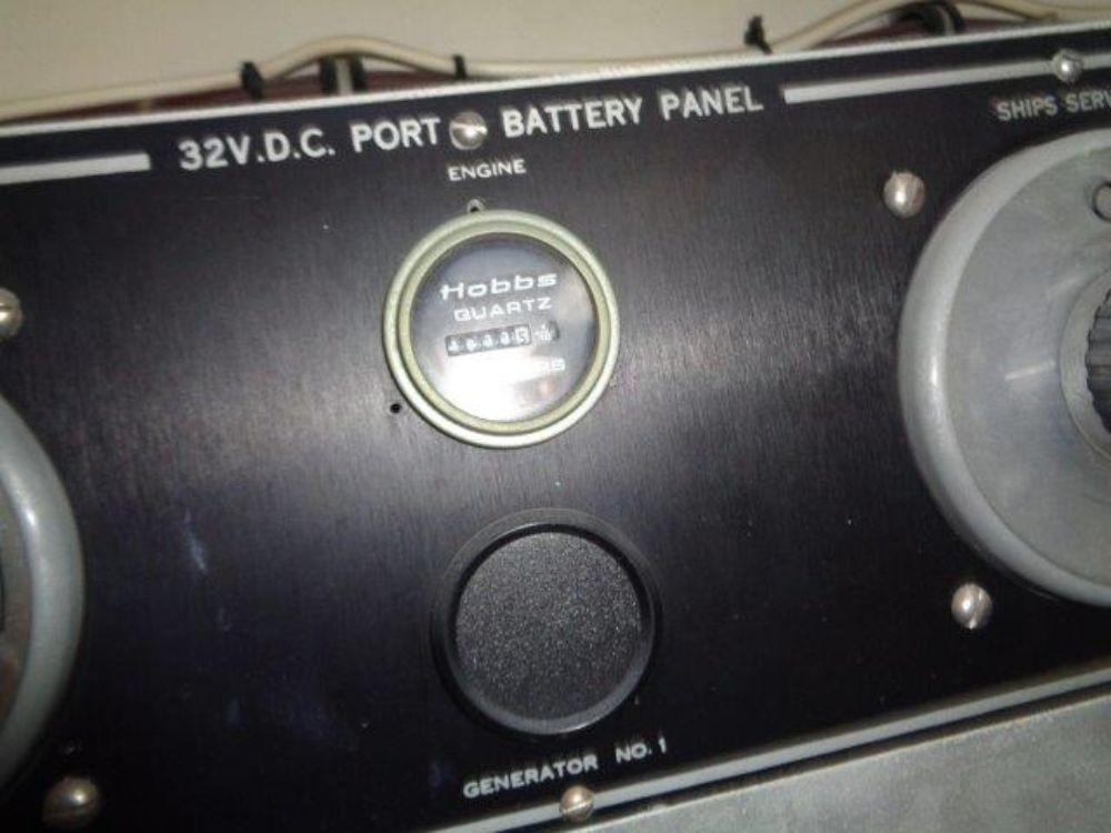 Hatteras 61 Motor Yacht - Port Side Battery Panel