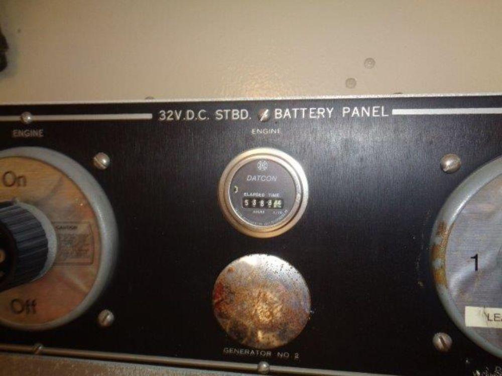 Hatteras 61 Motor Yacht - Starboard Side Battery Panel