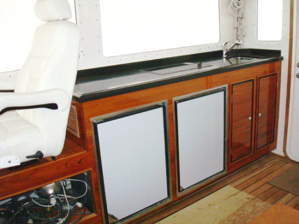 Galley SS Refrigerator And Freezer - Doors Shown With Protective Covers