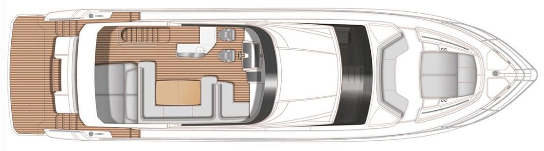 Manufacturer Provided Image: Princess F70  Flybridge Layout Plan