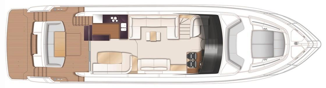 Manufacturer Provided Image: Princess F70 Main Deck Layout Plan