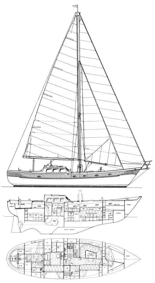 46' Mao Ta Shipyard 1979 Ted Brewer Designed Oceanic 46