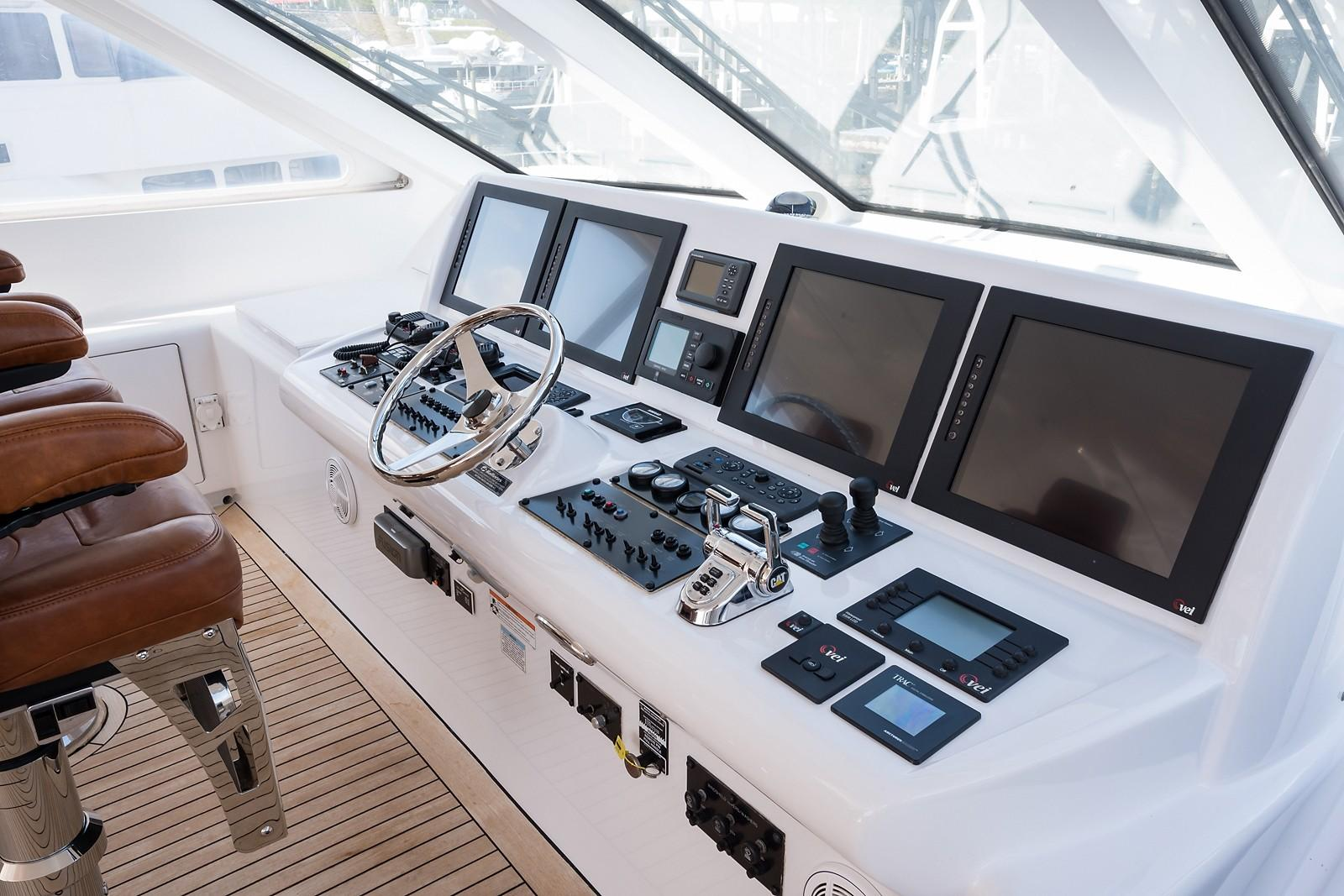 72 ft Hatteras 72 Motor Yacht Helm Electronics to Port