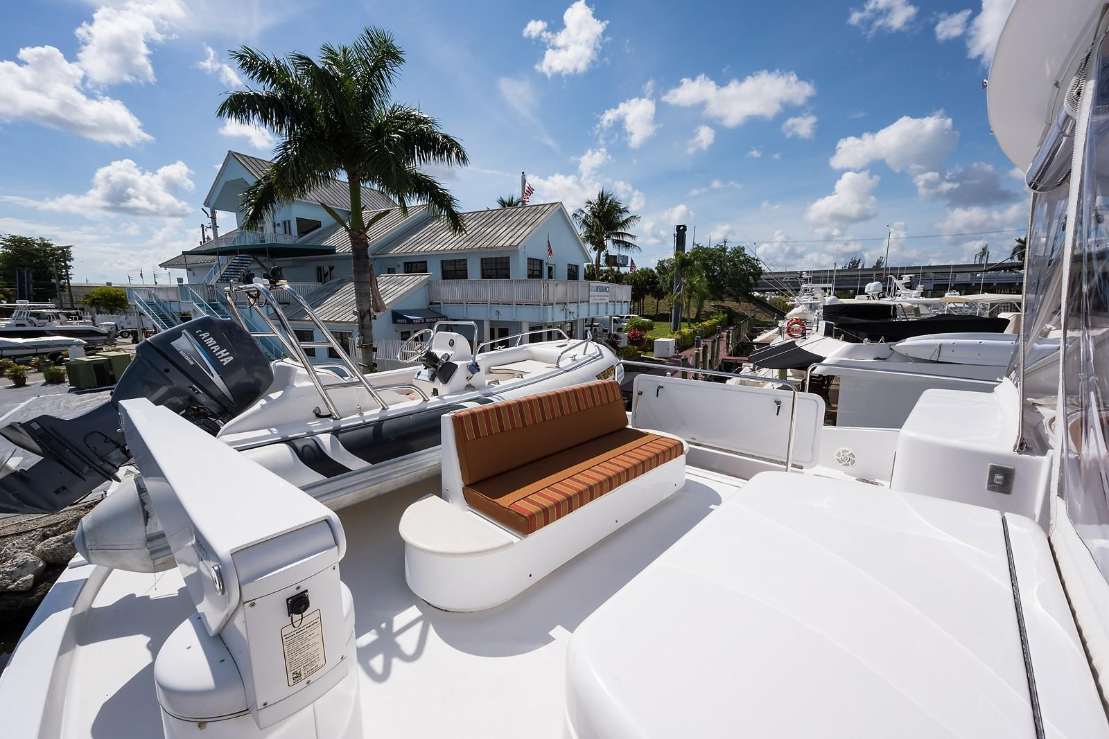 72 ft Hatteras 72 Motor Yacht Boat Deck to Port