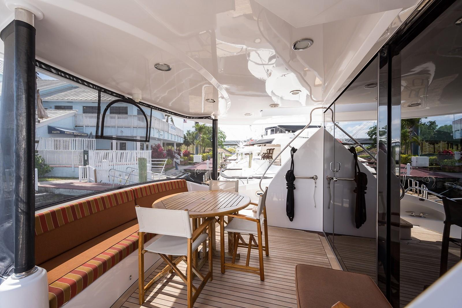 72 ft Hatteras 72 Motor Yacht Aft Deck to Port