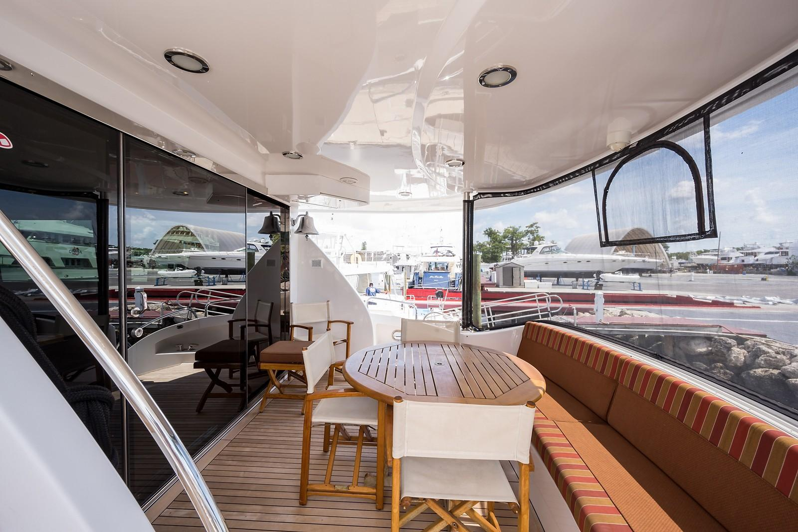 72 ft Hatteras 72 Motor Yacht Aft Deck to Starboard