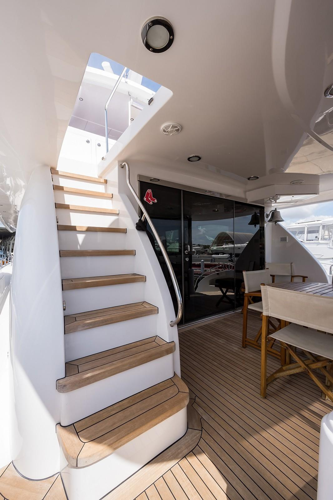 72 ft Hatteras 72 Motor Yacht Aft Deck Stairs