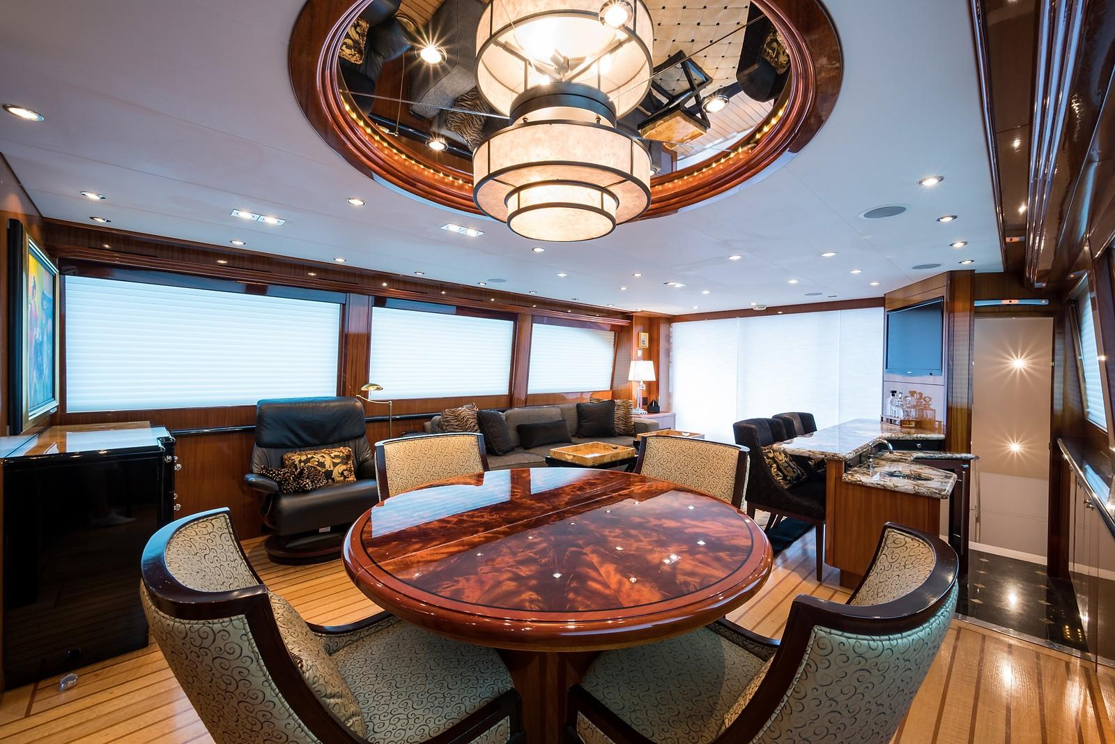 72 ft Hatteras 72 Motor Yacht Dining Area Aft