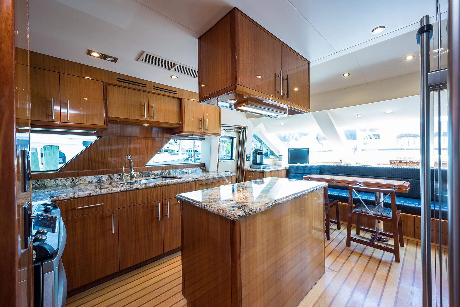 72 ft Hatteras 72 Motor Yacht Galley Forward