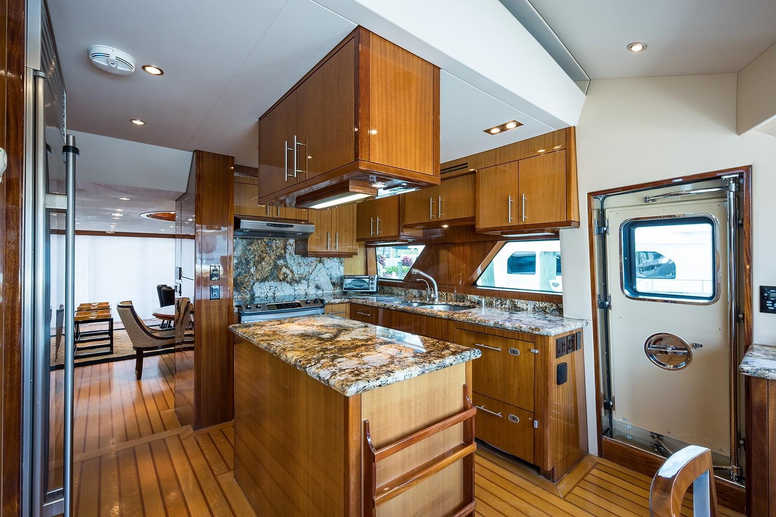 72 ft Hatteras 72 Motor Yacht Galley Aft