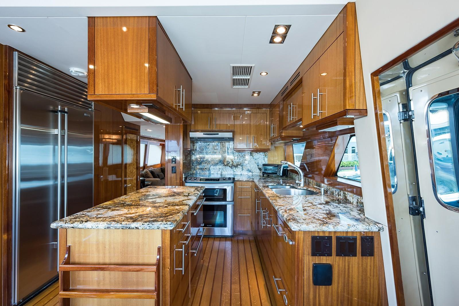 72 ft Hatteras 72 Motor Yacht Galley