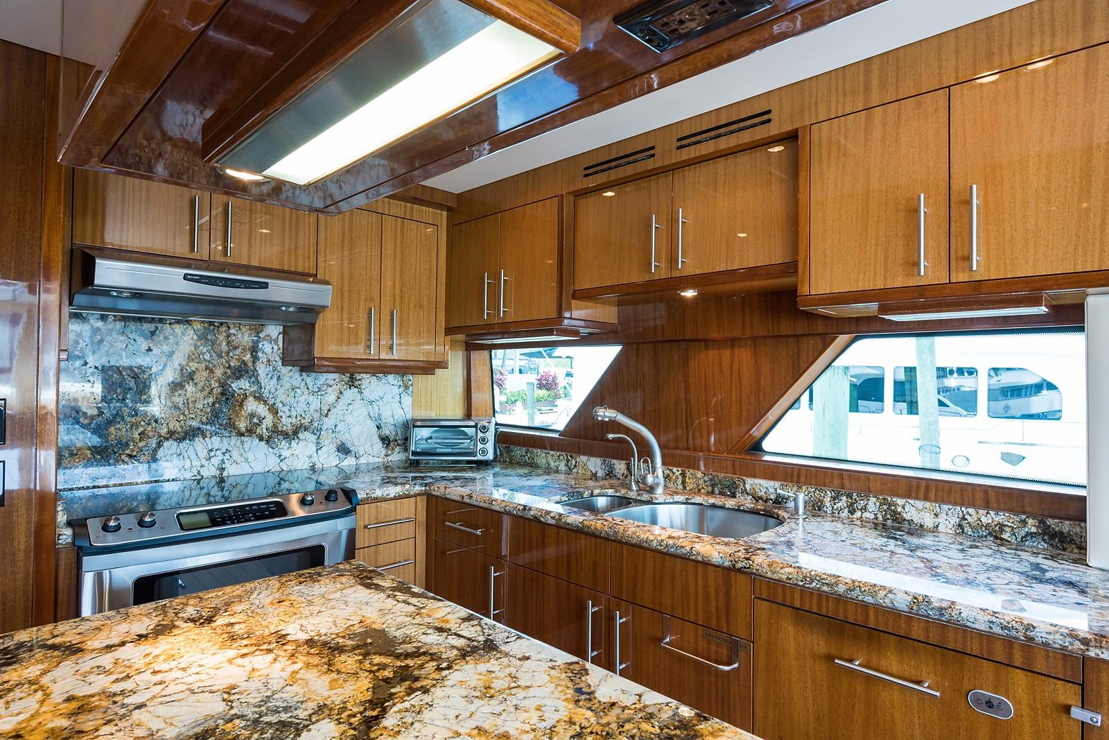 72 ft Hatteras 72 Motor Yacht Galley Cabinetry